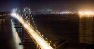 Bay Bridge by Night by Mark Nicholas