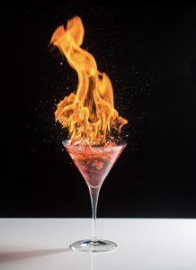 Flaming Hot Drink by Mark Nicholas