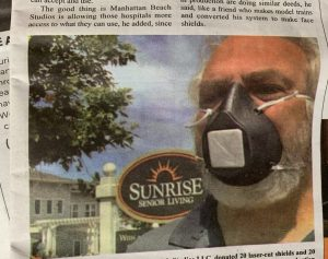 Mark Nicholas and Manhattan Beach Studios join the Covid 19 fight producing masks, shields and other PPEs.