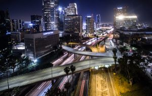 Los Angeles by Night - by Mark Nicholas
