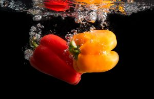 Peppers in Water by Mark Nicholas