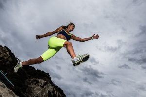 Flying Athlete by Mark Nicholas